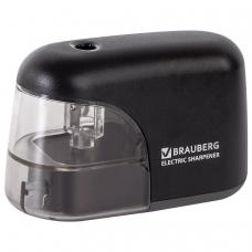 Точилка электрическая BRAUBERG 'Black Jack', питание от 4 батареек АА, дополнительное сменное лезвие, 228424