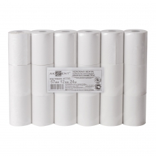 Рулоны для кассовых аппаратов, термобумага, 57х24х12 24 м, комплект 18 шт., AKZENT
