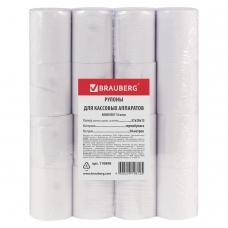 Рулоны для кассовых аппаратов, термобумага 57х30х12 30 м, комплект 16 шт., BRAUBERG, 110898