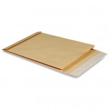 Конверт-пакет В4 объемный, 250х353х40 мм, из крафт-бумаги, с отрывной полосой, на 300 листов, 391157