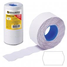 Этикет-лента 26х16 мм, волна, белая, комплект 5 рулонов по 800 шт., BRAUBERG, 123580