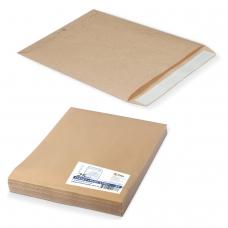 Конверт-пакет Е4+ плоский, комплект 25 шт., 300х400 мм, отрывная полоса, крафт-бумага, коричневый, 120 г/м2, на 300 листов, 312017.25