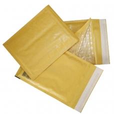 Конверт-пакет с прослойкой из пузырчатой пленки, комплект 10 шт., 240х330 мм, отрывная полоса, крафт-бумага, коричневый, G/4-G.10