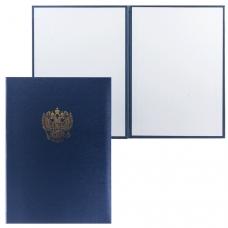 Папка адресная балакрон 'Государственная символика' российский орел, для листа А4, синяя, ПМ4002-104