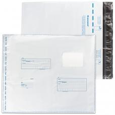 Конверт-пакет полиэтиленовый, комплект 400 шт., 320х355 мм, 'Куда-кому', отрывная лента, на 500 л., 11006