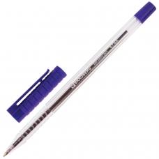 Ручка шариковая BRAUBERG 'Flash', СИНЯЯ, корпус прозрачный, узел 0,7 мм, линия письма 0,35 мм, BP183