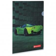Папка-уголок BRAUBERG 'Sport Car', А4, 150 мкм, цветная печать, 228044