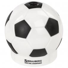 Точилка электрическая BRAUBERG 'Football', питание от 4 батареек АА, дополнительное сменное лезвие, 228427