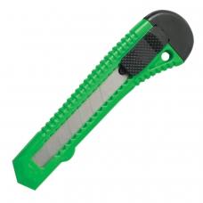 Нож канцелярский 18 мм STAFF, фиксатор, цвет корпуса ассорти, упаковка с европодвесом, 230485