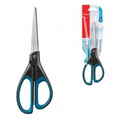 Ножницы MAPED Франция 'Essentials Soft', 210 мм, прорезиненные ручки, черно-синие, европодвес, 469210, 468310