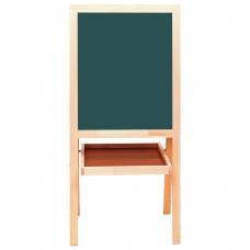 Доска-мольберт двусторонняя, магнитно-маркерная/для мела 56х67 см, белая/зеленая, BRAUBERG, 235519