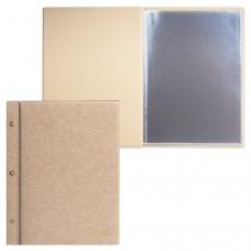 Папка 'Меню' на трех винтах, с 10 файлами, 220х320 мм, бежевая, 'ДПС', 2273.М-105