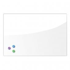 Доска магнитно-маркерная стеклянная, белая, 40х60 см, 3 магнита, BRAUBERG, 236744