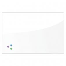 Доска магнитно-маркерная стеклянная, белая, 60х90 см, 3 магнита, BRAUBERG, 236747