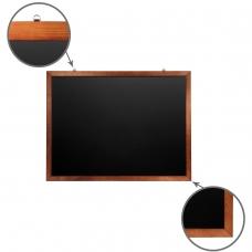 Доска для мела магнитная BRAUBERG, 90х120 см, черная, деревянная окрашенная рамка, 236893