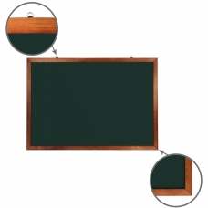 Доска для мела магнитная 100х150 см, зеленая, деревянная окрашенная рамка, BRAUBERG, 236894
