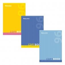 Тетрадь А4, 96 л., BRAUBERG, клетка, обложка картон, ОДИН ЦВЕТ, 401880