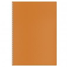 Тетрадь 80 л., А4, HATBER, гребень, клетка, пластиковая обложка, 'DIAMOND-оранжевая', 80Т4B1гр 02035, T165515