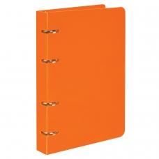 Тетрадь на кольцах, 80 л., BRAUBERG, А5, 160х205 мм, клетка, обложка пластик, 'Оранжевый', 403253