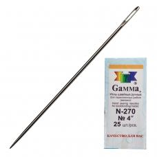 Иглы для прошивки документов игла цыганская, комплект 25 шт., размер 10 см, бумажная упаковка, N-270